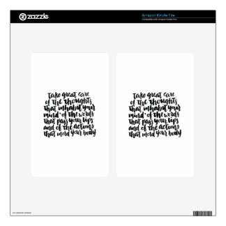 Quotes About Life: Take Great Care of Your Thought Kindle Fire Skins