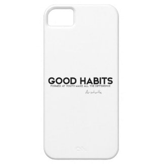 QUOTES: Aristotle: Good Habits iPhone SE/5/5s Case
