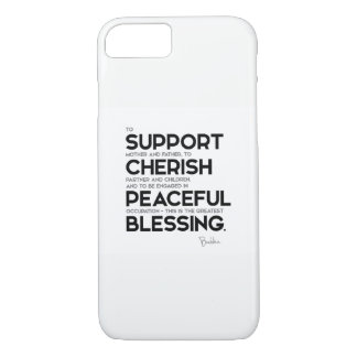 QUOTES: Buddha: Greatest blessing iPhone 8/7 Case