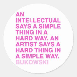 Quotes by Charles Bukowski Classic Round Sticker