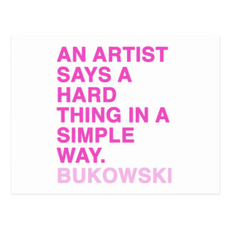 Quotes by Charles Bukowski Post Card