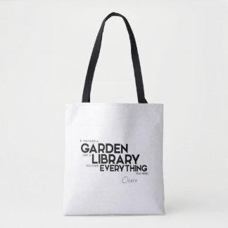 QUOTES: Cicero: A garden and a library Tote Bag