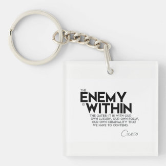 QUOTES: Cicero: Enemy within the gates Keychain
