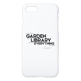 QUOTES: Cicero - Garden and Library iPhone 8/7 Case