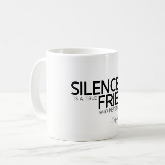 QUOTES: Confucius: Silence is a true friend Coffee Mug