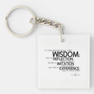 QUOTES: Confucius: Wisdom: reflection, imitation Keychain