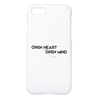 QUOTES: Dalai Lama - Open heart, Open mind iPhone 7 Case