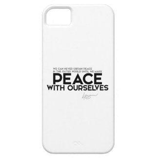 QUOTES: Dalai Lama - Peace with ourselves iPhone SE/5/5s Case