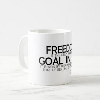 QUOTES: Epictetus: Freedom: worthy goal Coffee Mug