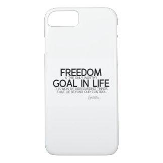 QUOTES: Epictetus: Freedom: worthy goal iPhone 8/7 Case