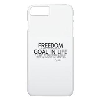 QUOTES: Epictetus: Freedom: worthy goal iPhone 8 Plus/7 Plus Case