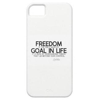 QUOTES: Epictetus: Freedom: worthy goal iPhone SE/5/5s Case