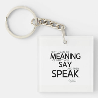 QUOTES: Epictetus: Learn the meaning Keychain