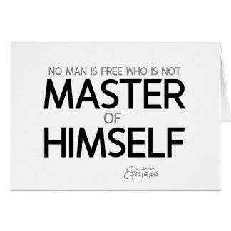 QUOTES: Epictetus: Master of himself Card