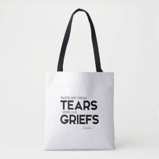 QUOTES: Euripides: Old griefs Tote Bag