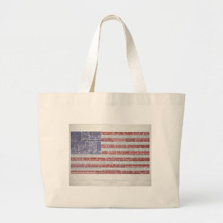 Quotes Flag for A Free and Open Internet Large Tote Bag