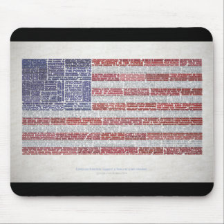Quotes Flag for A Free and Open Internet Mouse Pads