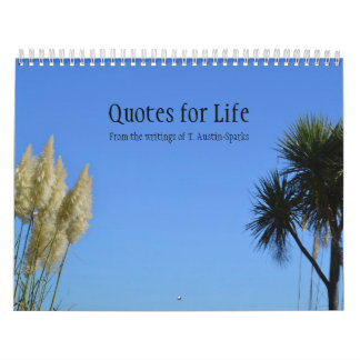 Quotes for Life Calendar Option B