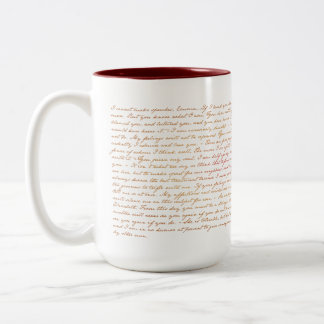 Quotes from Jane Austen P&P Two-Tone Coffee Mug