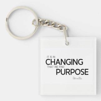 QUOTES: Heraclitus: Find purpose Keychain