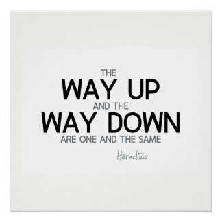QUOTES: Heraclitus: The way up, way down Poster