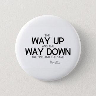QUOTES: Heraclitus: Way up, way down Pinback Button
