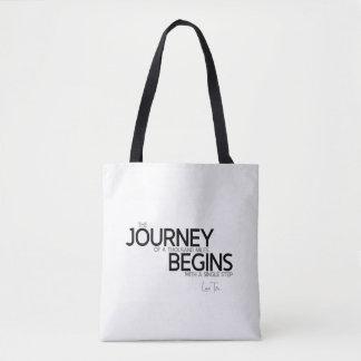 QUOTES: Lao Tzu: Journey thousand miles Tote Bag