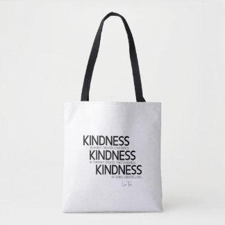 QUOTES: Lao Tzu: Kindness Tote Bag