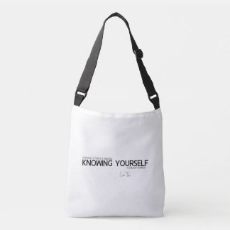 QUOTES: Lao Tzu: Knowing yourself Crossbody Bag