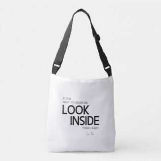 QUOTES: Lao Tzu: Look inside Crossbody Bag