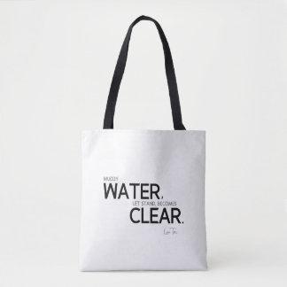 QUOTES: Lao Tzu: Muddy water Tote Bag