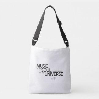 QUOTES: Lao Tzu: Music is soul Crossbody Bag