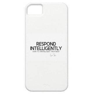 QUOTES: Lao Tzu: Respond intelligence iPhone SE/5/5s Case