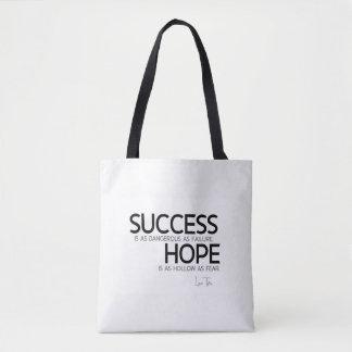 QUOTES: Lao Tzu: Success, hope Tote Bag