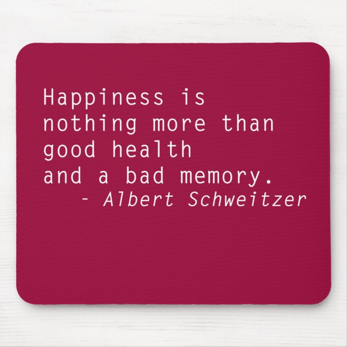 Quotes Mouse Pad Happiness \u0026 Health  Zazzle