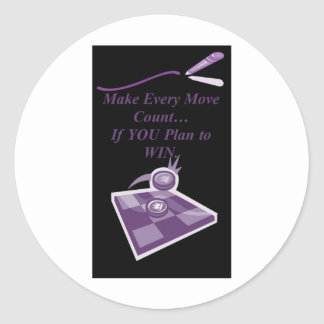 """QUOTES ~N~ MOTION"" 44 by CARA G. RHODES Classic Round Sticker"
