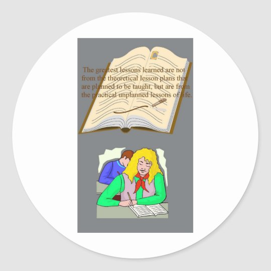"""""""QUOTES ~N~ MOTION"""" 46 by CARA G. RHODES Classic Round Sticker"""