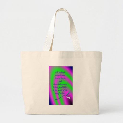 """""""QUOTES ~N~ MOTION"""" GEAR WEAR 5 by CARA G. RHODES Jumbo Tote Bag"""