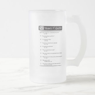 quotes on a frosty mug - Customized