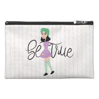 Quotes on Art: Be True Travel Accessory Bag