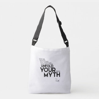 QUOTES: Rumi: Unfold your myth Crossbody Bag