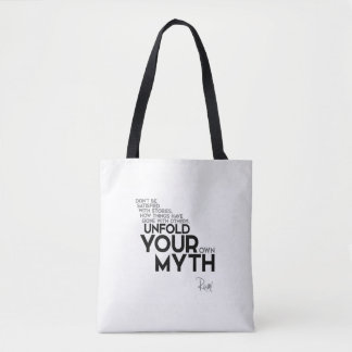 QUOTES: Rumi: Unfold your myth Tote Bag