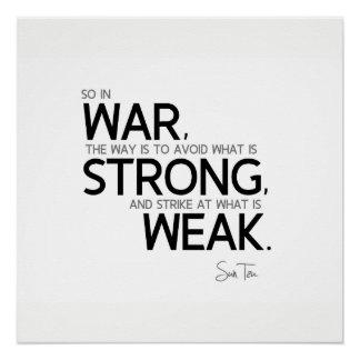 QUOTES: Sun Tzu: Avoid strong, strike weak Poster