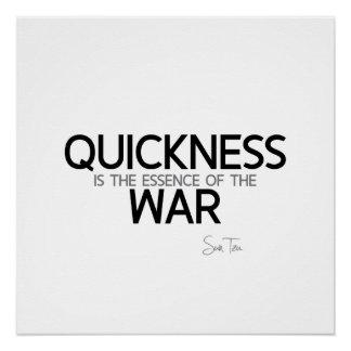 QUOTES: Sun Tzu: Quickness Poster