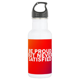 Quotes to motivate and inspire wisdom stainless steel water bottle