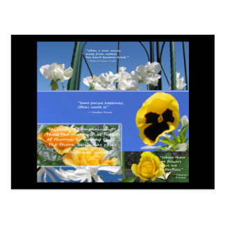 Quotes with Flowers Hello Postcard