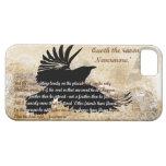 Quoth el cuervo nunca más Edgar Allan Poe iphone5 iPhone 5 Fundas