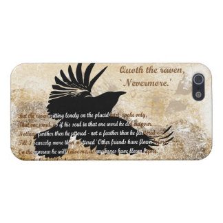 Quoth el cuervo nunca más Edgar Allan Poe iphone5 iPhone 5 Funda