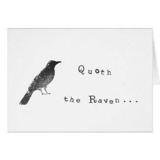 Quoth el cuervo - tarjeta de felicitación chistosa