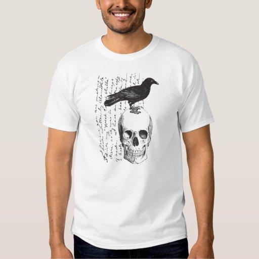 Quoth la camiseta de la imagen del vintage del playeras